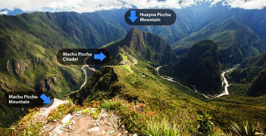 Huayna Picchu and Machu Picchu Mountains